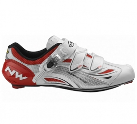 Northwave Chaussures TYPHOON EVO SBS 2011 White/Red/Silver Taille 41