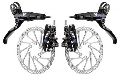 2011 AVID ELIXIR X0 Brake Pair Black / Blue + mm discs 185mm/160 PM / IS