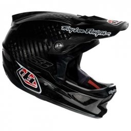 2012 TROY LEE DESIGNS D3 CARBON PINSTRIPE BLACK Helmet Size L