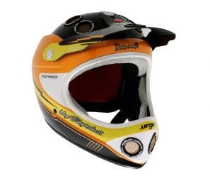 URGE 2011 Helmet Down-O-Matic Monaco orange / yellow / black S / M
