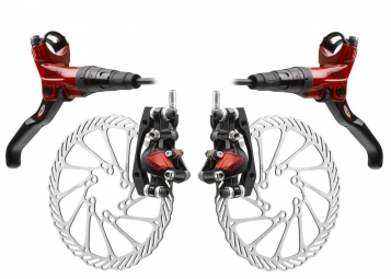 Avid Elixir CR Carbon brakes Pair of Red + discs 185mm/160mm PM / IS