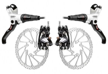 2011 X9 Avid Elixir CR Carbon brakes Pair of White + discs 185mm/185mm PM / IS