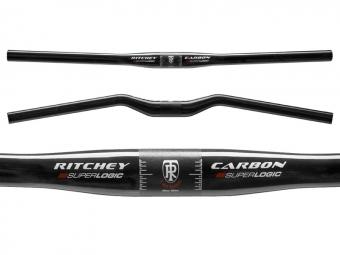 RITCHEY Cintre MTN SUPERLOGIC Plat 10° Carbon UD Mate 31.8mm 620mm