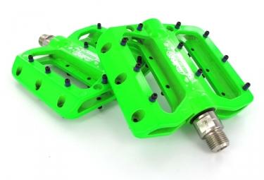 SB3 Pédales BURLY Vertes Aluminium