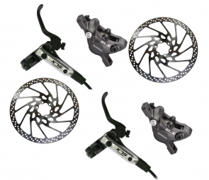 SHIMANO 2012 SLX M666 Paire de Freins Noir Disques 160mm PM/IS