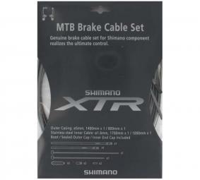 shimano kit cable et gaine xtr gris pour freins