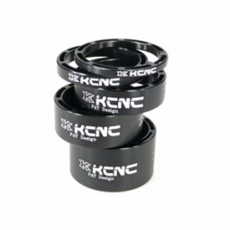 Kcnc kit entretoises direction light alu 1 1 8 noir 3 5 10 14 20 mm