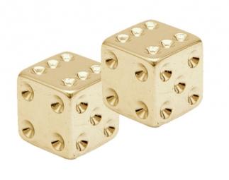 TRIKTOPZ Bouchons de Valves X 2 Dés Gold
