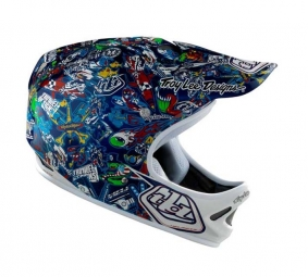 TROY LEE DESIGNS D2 HISTORY 2011 Full Face Helmet Navy M / L