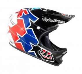 TROY LEE DESIGNS D2 SUPERSTAR 2011 Full Face Helmet Red Blue M / L