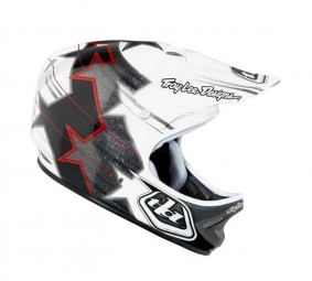 TROY LEE DESIGNS D2 SUPERSTAR 2011 Full Face Helmet White / Silver M / L