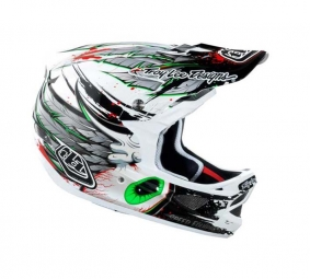 TROY LEE DESIGNS 2011 2011 D3 Composite Full Face Helmet White L SPEEDWING