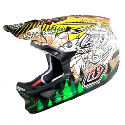 TROY LEE DESIGNS 2011 D3 Carbon Full Face Helmet SETH Yellow / Black M