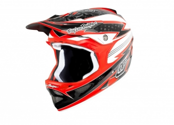 TROY LEE DESIGNS 2011 D3 Carbon Full Face Helmet Red L HILL