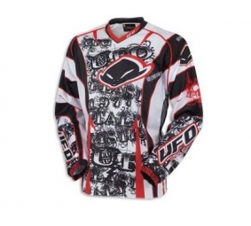 UFO Maillot Mystic Blanc/Rouge Taille Large