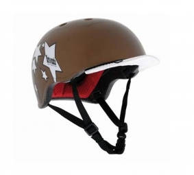 URGE Casque Bol Dirt-O-Matic Starz OR Visière Blanche Taille Unique