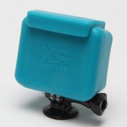 xsories etui de protection silicon bleu pour camera gopro hd hero et hero2