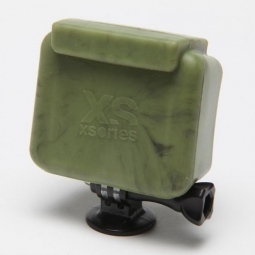 XSORIES Etui de Protection Silicon CAMO/VERT pour Camera GOPRO Hero et Hero2 HD