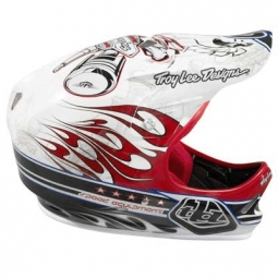 TROY LEE DESIGNS 2010 Casque intégral D2 Piston Red composite M/L