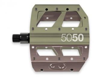 CRANKBROTHERS Paire de Pédales Plates 5050X Vert/Argent