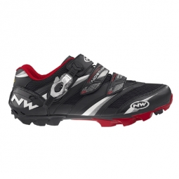 NORTHWAVE 2011 Chaussures Lizzard Pro SBS Noire Rouge 43