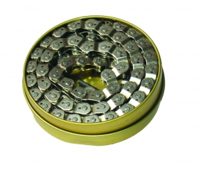 Gusset Chaine demi maillon Chrome 1/8 Single Speed