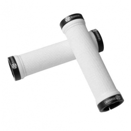 GUSSET Pair Lock On Grips White Black
