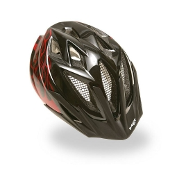MET Helmet Black Flame Red CRACKERJACK