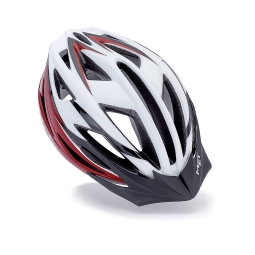 MET Casque Falco Blanc Rouge