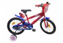 Vélo 16 Licence Spiderman pour enfant de 5 à 7 ans avec stabilisateurs à molettes