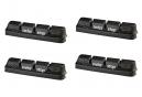 x4 Cartouches de Patins de Frein SwissStop RacePro Original Black Pour Jantes Aluminium Pour Freins Campagnolo