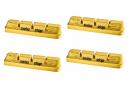 x4 Cartouches de Patins de Frein SwissStop RacePro Yellow King Pour Jantes Carbone Pour Freins Campagnolo