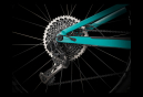 VTT Tout Suspendu 2020 Trek Top Fuel 9.9 29'' Sram XX1 Eagle Noir/Turquoise