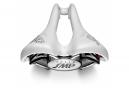 Saddle SMP Stratos Rails stainless steel White