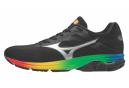 Chaussures de Running Mizuno Wave Rider 23 Noir / Multi-couleur