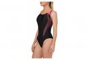 Speedo Fit Laneback Swimsuit Black Pink