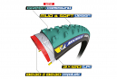 Pneu Cyclocross Michelin Power Cyclocross Mud 700 mm Tubeless Ready Souple Vert
