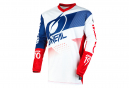 Maillot Manches Longues O'Neal Element Factor Blanc / Bleu / Rouge