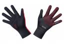 Paire de Gants GORE Wear C3 Gore-Tex Infinium Stretch Mid Noir Rouge