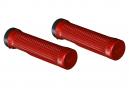 Puños OneUp Lock-On - red black