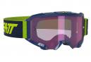 Masque Leatt Velocity 4.5 Iriz Bleu marine - Ecran Violet