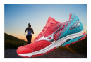 Chaussures De Course Running Mizuno Wave Rider 19 Femme 42 Rose
