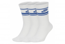Nike NSW Essential Socks White / Blue (Pack of 3 Pairs)