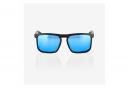 Lunettes 100% Renshaw Matte Black HiPER Blue Multilayer Mirror Lens / Noir / Bleu