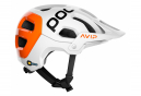 Casque VTT Poc Tectal Race Spin NFC Blanc Hydrogen / Orange Fluo AVIP