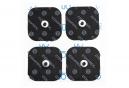 4 Électrodes Compex EasySnap Performance 50x50mm 1 Snap