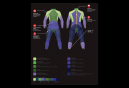 Combination N opr ne Speedo Xenon Fullsuit Black Blue