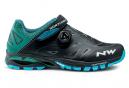 Chaussures VTT Northwave Spider Plus 2 Noir / Bleu