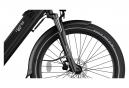 Legend Milano Vélo Electrique Ville Smart eBike Roues de 26 Pouces, Freins Disque Hydraulique, Batterie 36V 10.4Ah Sanyo-Panasonic (374.4Wh), Noir Onyx
