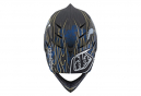 Casque Intégral Troy Lee Designs D4 Carbon Eyeball Bleu / Noir